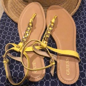 Guess brand yellow sandals